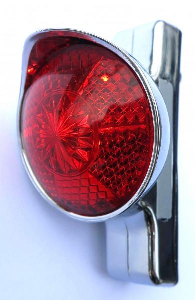 Fanale posteriore Retro a LED Classic Cycle con batteria per il montaggio sul parafango, con alloggiamento cromato