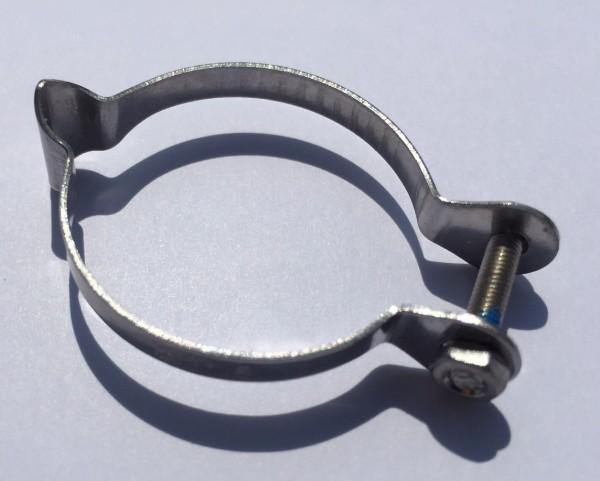 Fascetta di serraggio per freno o cavo del cambio in acciaio inox per 31,8 mm