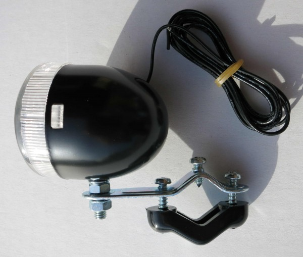 Piccolo fanale frontale Big Bullet nero 6V 3 W
