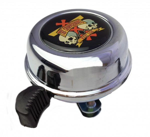 Campanello Project 346, coperchio cromato con stupendo adesivo Chopperdome