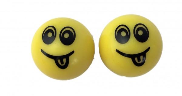 Tappi a smiley per valvola, gialli