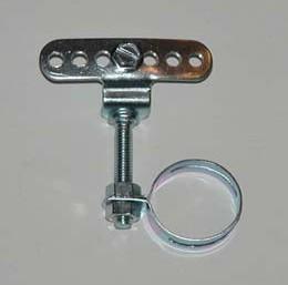 Fissaggio del tubo del telaio ad es. per carter Classic alluminio lucidato