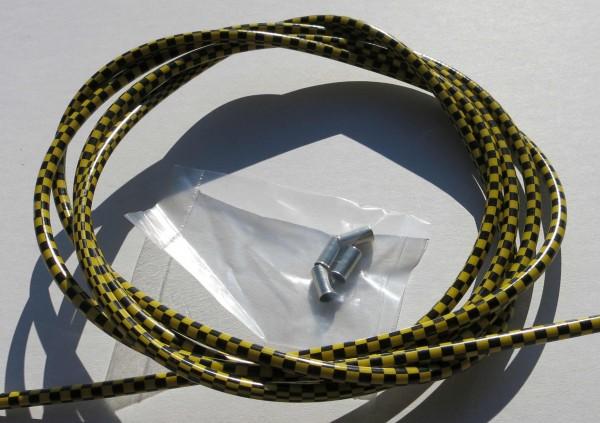 Cavo esterno cavo Bowden a quadri nero/giallo