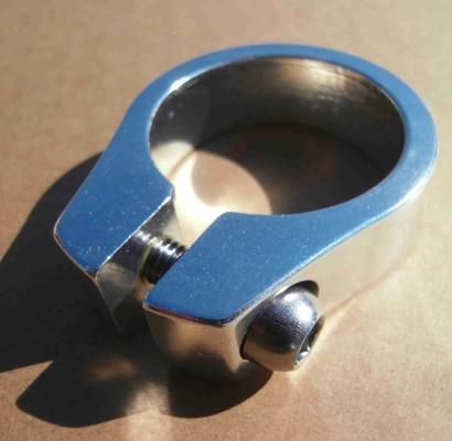 Morsetto reggisella 34,9 mm in alluminio lucido