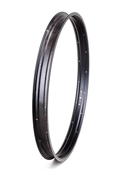 Cerchione in alluminio da 27,5 pollici 57 mm nero opaco