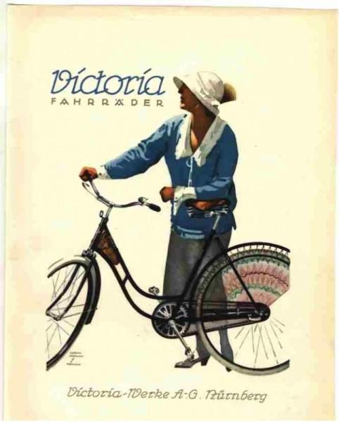Cartolina bici Victoria-Werke