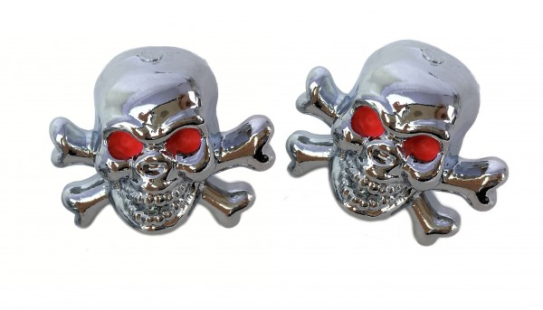Tappi per valvola Skull with Bones - Teschio con ossa