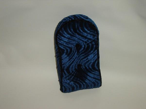 Schienalino per sissy bar, velluto, blu