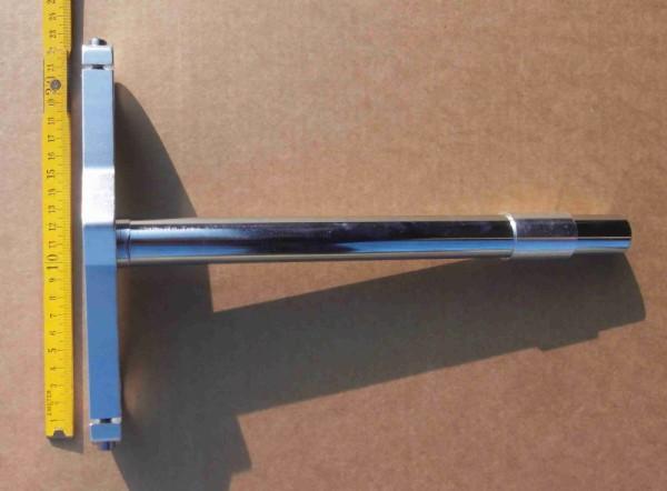 Piastra inferiore della forcella extra-large con cannotto lungo 1 pollice per forcella a doppia piastra e adattatore per raccordi della forcella da 1 1/8
