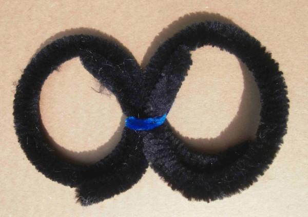 Anelli di pulizia color nero in ciniglia, 2 grandi