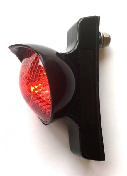 Fanale posteriore* Retro a LED Classic Cycle per bici a dinamo per il montaggio sul parafango, nero