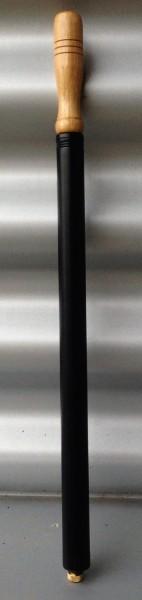 Pompa di gonfiaggio, nero, metallo, impugnatura in legno