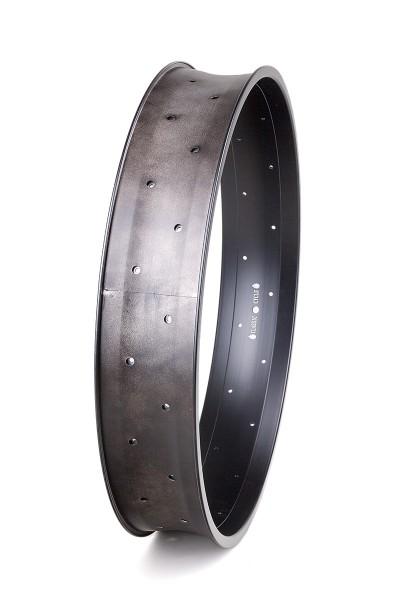 Cerchione in alluminio da 24 pollici 102 mm nero opaco