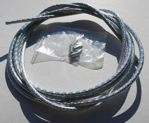 Cavo esterno cavo Bowden argentato / iridiscente lucente