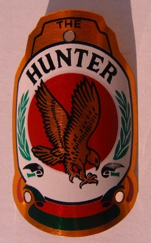 Targhetta Hunter per attacco manubrio
