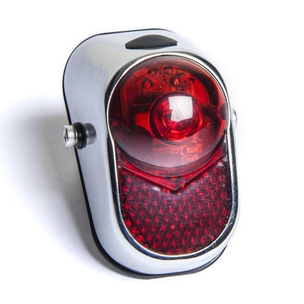 Fanale posteriore LED a occhio di tigre in stile retrò Classic Cycle con batteria per il montaggio sul parafango